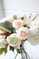 Blush Peach Artificial Flower Arrangement